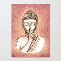 Buddha Shh.. Do not disturb - Colored version Canvas Print