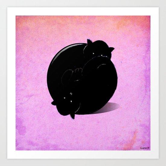 Ball of cats Art Print