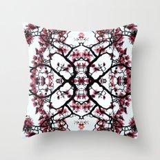 magnolia silhouette Throw Pillow