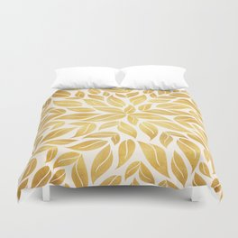 Golden Leaf Mandala Duvet Cover
