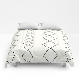 Moroccan Diamond Stripe in Black and White Comforters
