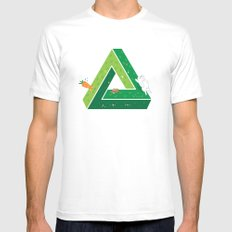 Chasing MEDIUM Mens Fitted Tee White