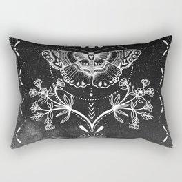 Magical Moth Black Rectangular Pillow