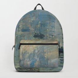 Claude Monet – Impression soleil levant – impression sunrise Backpack