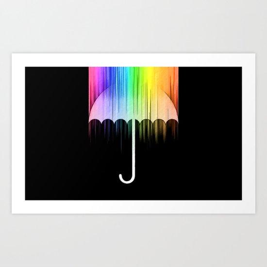 Rain of Colors Art Print