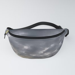 Grey clouds Fanny Pack