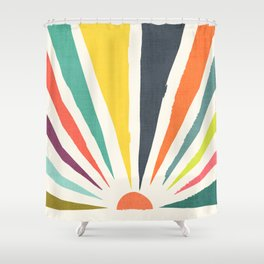Rainbow ray Shower Curtain