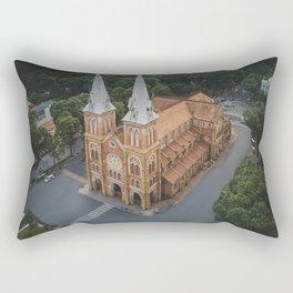 Notre-Dame Cathedral Basilica of Saigon Rectangular Pillow
