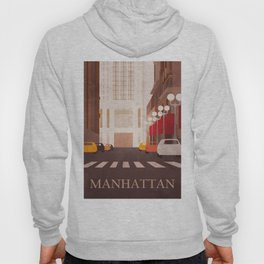 New York Manhattan watercolor Hoody