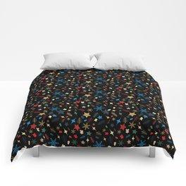 Christmas elements mix pattern Comforters