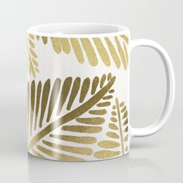 Tropical Banana Leaves – Gold Palette Coffee Mug
