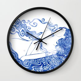 Water Nymph LXVII Wall Clock