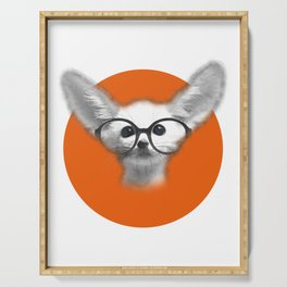 Fennec Fox wearing glasses Serving Tray