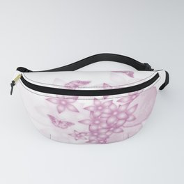 delicate pink butterflies and flowers Fanny Pack