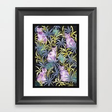 Cats in the garden Framed Art Print