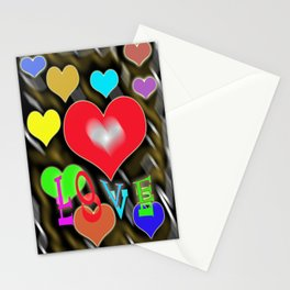 hearts of love Stationery Cards