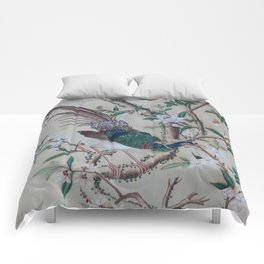 Antique Chinoiserie with Bird Comforters