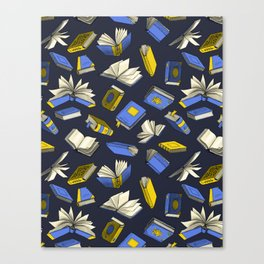 Spellbooks, blue Canvas Print
