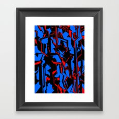 Nightlines Framed Art Print