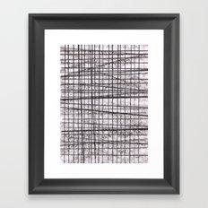 Black surface 1 Framed Art Print