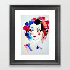 Water Color Sketch Framed Art Print