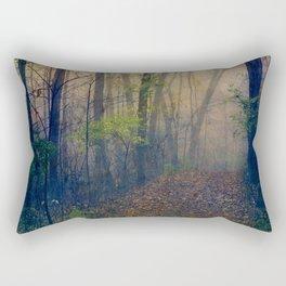 Wandering in a Foggy Woodland Rectangular Pillow