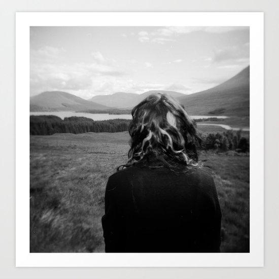 A Scottish Portrait - Holga photograph taken in Scotland Art Print
