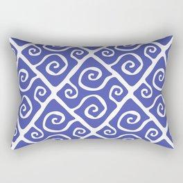 Diamond Pattern Blue Rectangular Pillow