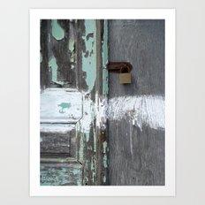 Hidden within Santorini, Greece Art Print