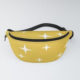 Mid Century Modern Star Pattern 443 Mustard Yellow Fanny Pack