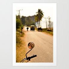 Hampi road Art Print