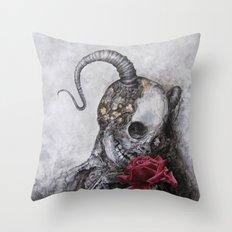 Rose Tattoo Throw Pillow