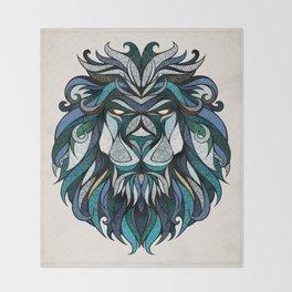 Blue Lion Throw Blanket