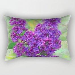 Watercolor Lilac Rectangular Pillow