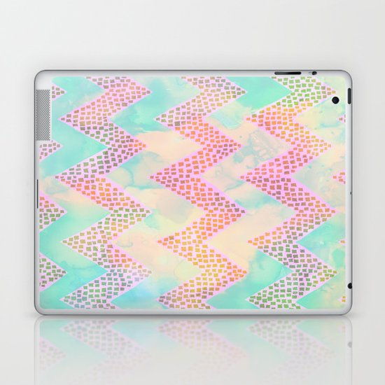 Little Squares Chevron - Pastel Laptop & iPad Skin
