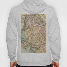 Vintage and Retro Map of India Hoody
