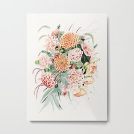 Fall Dahlia Bouquet Metal Print