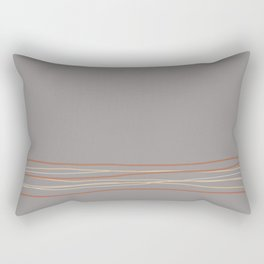Sherwin Williams Slate Violet Gray SW9155 with Scribble Lines Bottom in Accent Colors Cavern Clay Rectangular Pillow