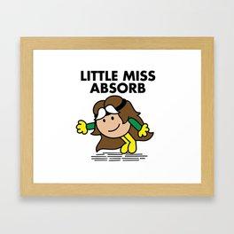 Little Miss Abosorb Framed Art Print
