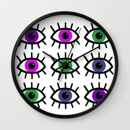 Open Your Eyes - Festival Pattern Wall Clock