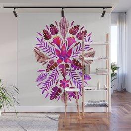 Tropical Symmetry – Magenta Wall Mural
