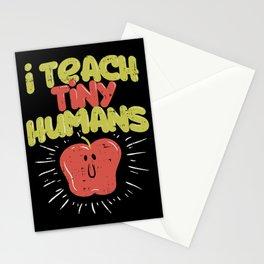 I Teach Tiny Humans Funny Kindergarten Preschool Teacher Stationery Cards
