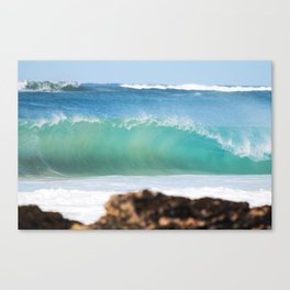 Behind the Rock Canvas Print