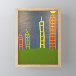 Building Upwards for all Mankind Framed Mini Art Print