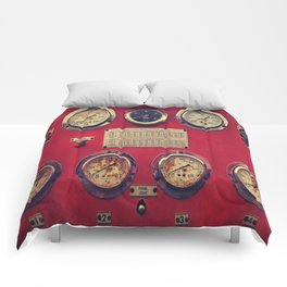 Old Gauges on a Fire Truck Comforters