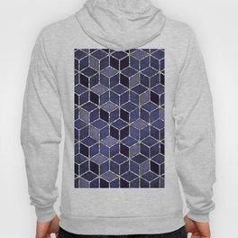 Shades Of Purple Cubes Pattern Hoody