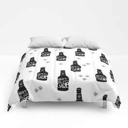 There's always hope beer bottle hop love monochrome Comforters