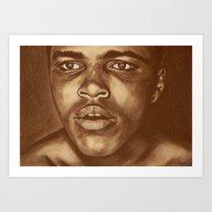 round 1...cassius clay Art Print