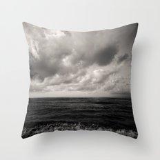 summer ver.black Throw Pillow