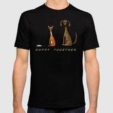 Happy Together - Black MEDIUM Black Mens Fitted Tee